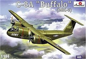 A-Model-From-Russia C8A Buffalo (DHC5) USAF Transport Aircraft Plastic Model Airplane Kit 1/144 Scale #1409