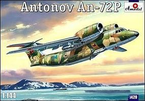 A-Model-From-Russia Antonov An72P Soviet Military Transport Turbojet Plastic Model Airplane Kit 1/144 #1420