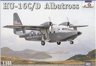 A-Model-From-Russia HU16C/D Albatross US Navy Amphibian Aircraft Plastic Model Airplane Kit 1/144 Scale #1423