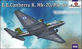 A-Model-From-Russia EE Canberra B Mk 20/62 Bomber Plastic Model Airplane Kit 1/144 Scale #1428