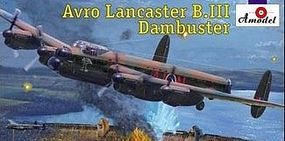 A-Model-From-Russia Avro Lancaster B III Dambuster Bomber Plastic Model Airplane Kit 1/144 Scale #1433