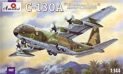 A-Model-From-Russia C130A Hercules USAF Tactical Transport Aircraft Plastic Model Airplane Kit 1/144 #1437
