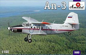 A-Model-From-Russia Antonov An3 Aircraft Plastic Model Airplane Kit 1/144 Scale #1440