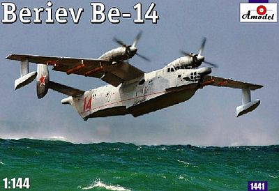 A-Model-From-Russia Beriev Be14 Soviet Amphibious ASW Aircraft Plastic Model Airplane Kit 1/144 Scale #1441