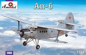 A-Model-From-Russia Antonov An6 Aircraft Plastic Model Airplane Kit 1/144 Scale #1466