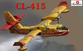 A-Model-From-Russia CL415 Amphibious Aircraft (New Tool) Plastic Model Airplane Kit 1/144 Scale #1476