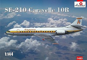 A-Model-From-Russia 1/144 SE210 Caravelle 10R Hispania International Commercial Airliner