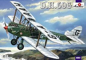A-Model-From-Russia DeHavilland DH60G 2-Seater Gipsy Moth BiPlane Plastic Model Airplane Kit 1/148 Scale #4802
