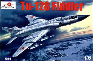 A-Model From Russia Tu128 Fiddler Long-Range Supersonic Interceptor -- Plastic Model Airplane Kit -- 1/72 -- #72100