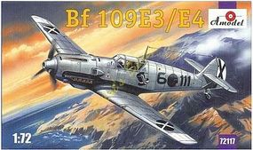 A-Model-From-Russia Bf109E3/4 Fighter Plastic Model Airplane Kit 1/72 Scale #72117