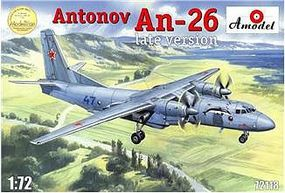 A-Model-From-Russia Antonov An26 Russian Military Cargo Aircraft Plastic Model Airplane Kit 1/72 Scale #72118