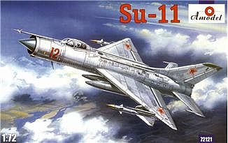 A-Model-From-Russia Su11 Soviet Fighter-Interceptor Plastic Model Airplane Kit 1/72 Scale #72121