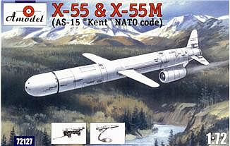 A-Model-From-Russia X55 & X55M Compact Strategic Cruise Missiles Plastic Model Airplane Kit 1/72 Scale #72127
