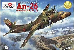 A-Model-From-Russia Antonov An26 RR/RT/Z Version Russian Military Cargo Plastic Model Airplane Kit 1/72 #72134