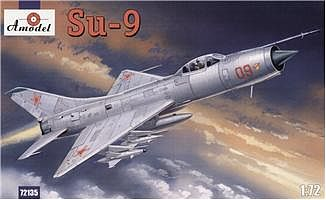 A-Model-From-Russia Su9 Soviet Fighter Interceptor Plastic Model Airplane Kit 1/72 Scale #72135