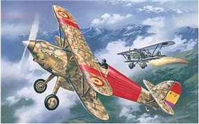 A-Model-From-Russia Hawker Fury Spanish Air Force BiPlane Fighter 1939 Plastic Model Airplane Kit 1/72 #72139