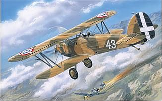 A-Model From Russia Hawker Fury Yugoslavian Air Force BiPlane Fighter -- Plastic Model Airplane Kit -- 1/72 -- #72140