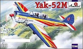 A-Model-From-Russia Yak52M 2-Seater Sporting Aircraft Plastic Model Airplane Kit 1/72 Scale #72144