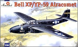 A-Model-From-Russia Bell XP/YP59 Airacomet US Jet Fighter Plastic Model Airplane Kit 1/72 Scale #72152