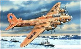A-Model-From-Russia Petlyakov Pe8 (Polar Aviation) Bomber Plastic Model Airplane Kit 1/72 Scale #72155