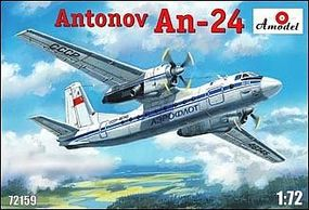 A-Model-From-Russia Antonov An24 Civilian Aircraft Plastic Model Airplane Kit 1/72 Scale #72159