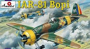 A-Model From Russia IAR81 Bopi Romanian Fighter -- Plastic Model Airplane Kit -- 1/72 Scale -- #72169