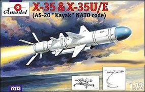 A-Model-From-Russia Kh35 & Kh35U/E Soviet Guided Missile Plastic Model Airplane Kit 1/72 Scale #72173