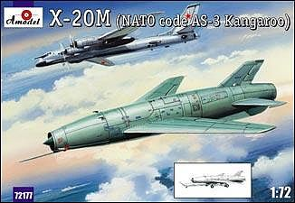 A-Model-From-Russia X20M Soviet Strategic Airborne Missile System Plastic Model Airplane Kit 1/72 Scale #72177