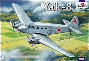 A-Model-From-Russia Yak8 Soviet Passenger Aircraft Plastic Model Airplane Kit 1/72 Scale #72183