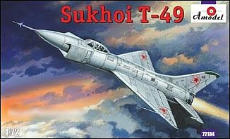 A-Model-From-Russia T49 Soviet Interceptor Fighter Plastic Model Airplane Kit 1/72 Scale #72184