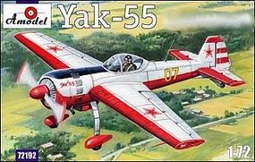 A-Model-From-Russia Yak55 Soviet Aerobatic Aircraft Plastic Model Airplane Kit 1/72 Scale #72192