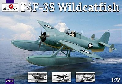 A-Model From Russia F4F3S Wildcatfish USAF Floatplane -- Plastic Model Airplane Kit -- 1/72 Scale -- #72210