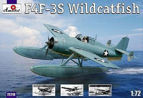 A-Model-From-Russia F4F3S Wildcatfish USAF Floatplane Plastic Model Airplane Kit 1/72 Scale #72210