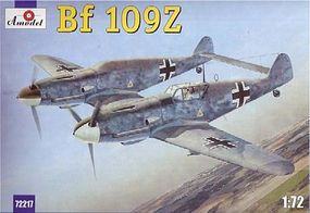 A-Model-From-Russia Messerschmitt Bf109Z Fighter Plastic Model Airplane Kit 1/72 Scale #72217