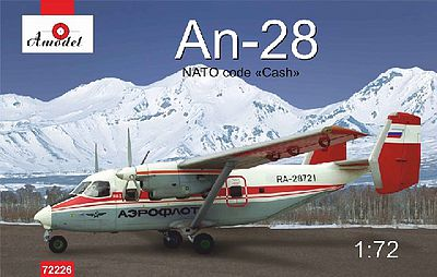 A-Model From Russia Antonov An28 NATO Code Polar Aircraft -- Plastic Model Airplane Kit -- 1/72 Scale -- #72226