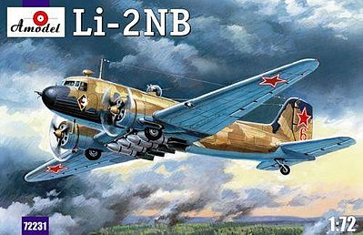 A-Model-From-Russia Lisunov Li2NB Soviet Light Bomber Plastic Model Airplane Kit 1/72 Scale #72231