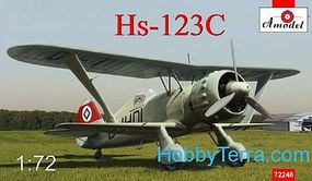 A-Model-From-Russia Henschel Hs123C Dive Bomber Plastic Model Airplane Kit 1/72 Scale #72248