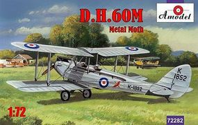 A-Model-From-Russia DH60M Metal Moth 2-Seater Biplane Plastic Model Airplane Kit 1/72 Scale #72282