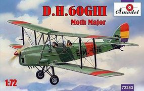 A-Model-From-Russia DH60G III Moth Major 2-Seater Biplane Plastic Model Airplane Kit 1/72 Scale #72283