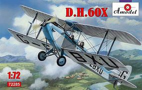 A-Model-From-Russia DH60X 2-Seater Biplane Plastic Model Airplane Kit 1/72 Scale #72285