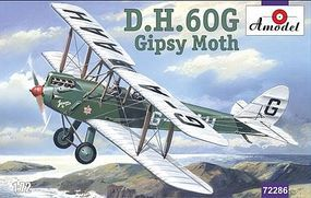A-Model-From-Russia DH60G Gipsy Moth 2-Seater Biplane Plastic Model Airplane Kit 1/72 Scale #72286
