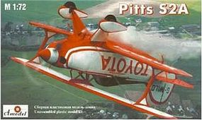 A-Model-From-Russia Pitts S2A Aerobatic BiPlane Plastic Model Airplane Kit 1/72 Scale #7228