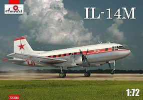 A-Model-From-Russia Ilyushin Il14M Personnel/Cargo Aircraft Plastic Model Airplane Kit 1/72 Scale #72304