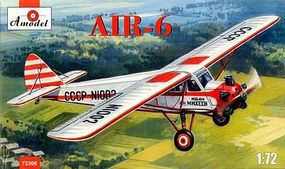 A-Model-From-Russia AIR6 Light Civil Aircraft Plastic Model Airplane Kit 1/72 Scale #72306