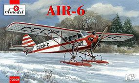 A-Model-From-Russia AIR6 Soviet Monoplane on Skis Plastic Model Airplane Kit 1/72 Scale #72309