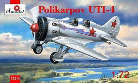 A-Model-From-Russia Polikarpov UTI4 Flight Trainer Aircraft Plastic Model Airplane Kit 1/72 Scale #72314