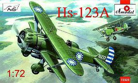 A-Model-From-Russia Henschel Hs123A Chinese Dive Bomber Plastic Model Airplane Kit 1/72 Scale #72323