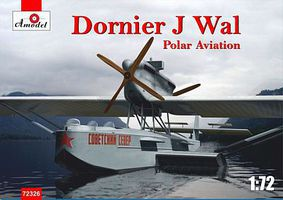 A-Model-From-Russia Dornier J Wal Polar Aviation German Flying Boat Plastic Model Airplane Kit 1/72 #72326