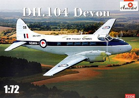 A-Model-From-Russia 1/72 DH104 Devon New Zealand Warbirds Light Transport Aircraft (New Tool)