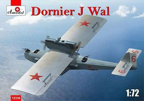 A-Model-From-Russia Dornier J Wal German Flying Boat (New Tool) Plastic Model Airplane Kit 1/72 Scale #72336